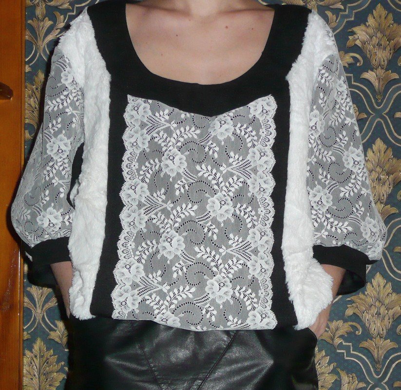 Блуза теплая