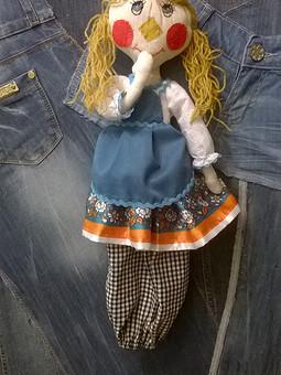 Работа с названием Кукла-пакетница