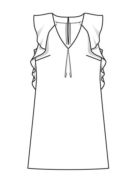Шьём платье итоп своланами поодной выкройке