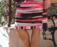 Трикотажное платье-качели
