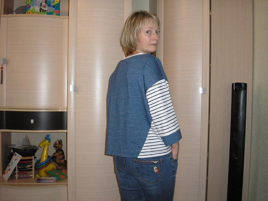 Пуловер встиле колор-блокинг от Tatyana163