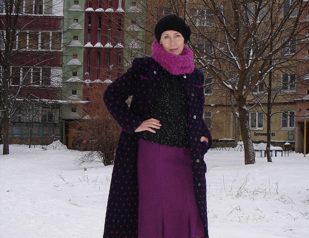 Пальто вгорошек ивязаные аксессуары кнему