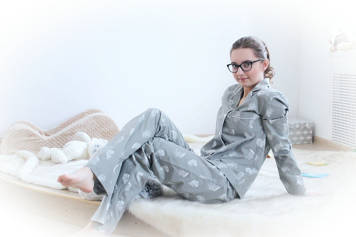 Женская..буржуазная..пижамка «Пёрышки»