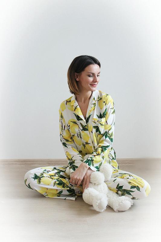 Фэмили лук пижамапати «Лимончики-у тёти Сони набалкончике» от AlexandraMaiskaya