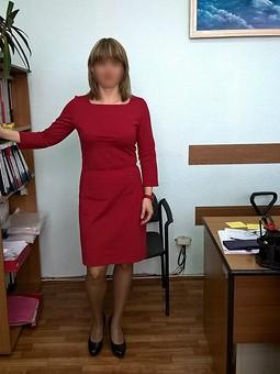 Работа с названием Платье офисное