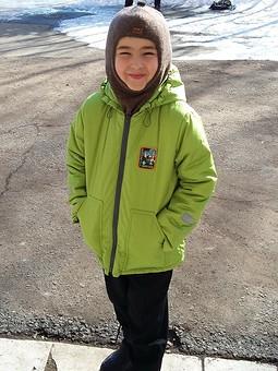 Работа с названием Куртка для сына