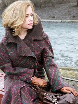 Работа с названием Валяное пальто с кашемиром и мохером