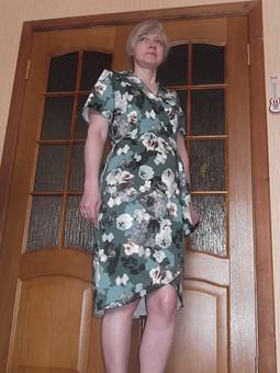 Работа с названием Платье запашное