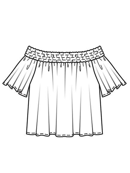 Блузка встиле кармен своими руками