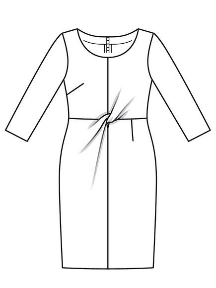 Как сшить платье-футляр сдрапировкой спереди