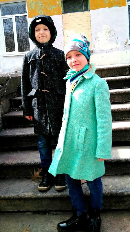 Пальто длядвойняшек