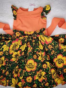 Работа с названием Платье матрешки