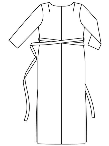 Длинное платье дляполных своими руками