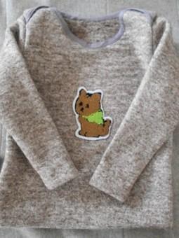Работа с названием Детский шерстяной пуловер по Бурде