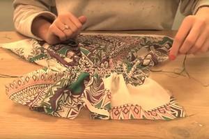 Сборки на изделии при помощи эластичной нити (видео)