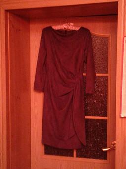 Работа с названием Платье Замша слива