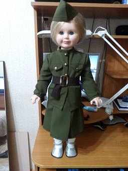 Работа с названием Подготовка к 9 мая!Кукла для садика