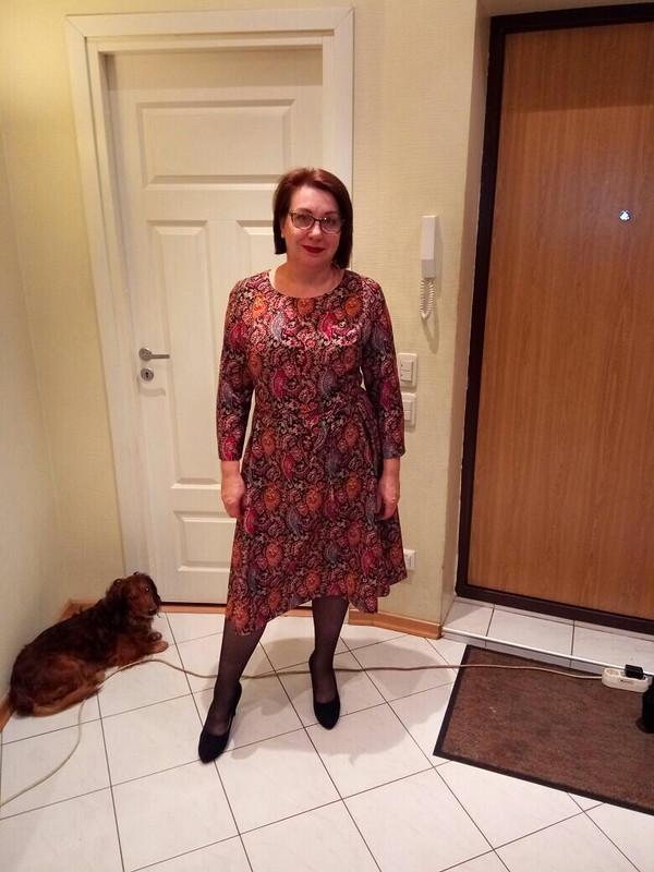 Платье вперцах