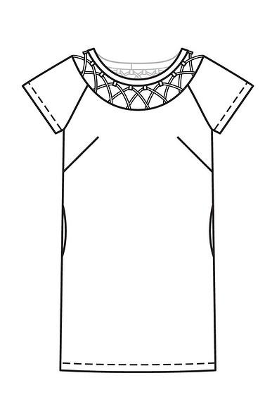 Как сшить платье сажурным вырезом горловины