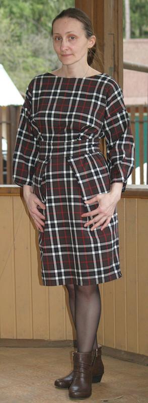 Платье вклетку от KateLa