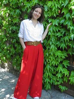 Работа с названием Красные марлены))