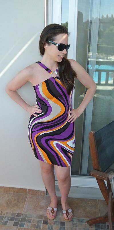 Платье скольцом