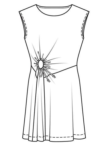 Как сшить платье изтонкого трикотажа