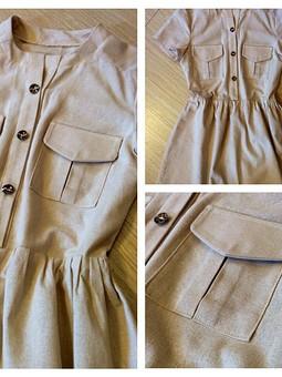 Работа с названием Платье-рубашка в стиле сафари