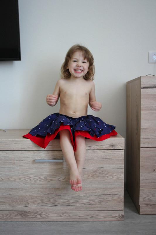Двойная юбка соборками