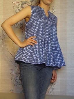 Работа с названием Летняя блуза с баской
