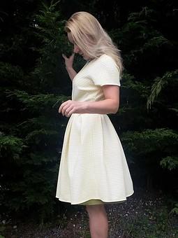Работа с названием Июньское платье с рукавами реглан