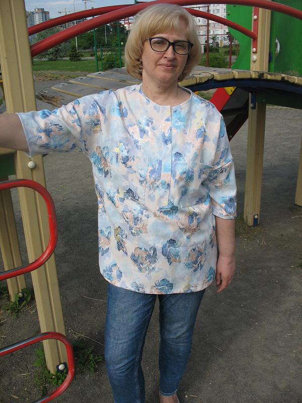Блуза снизкими проймами