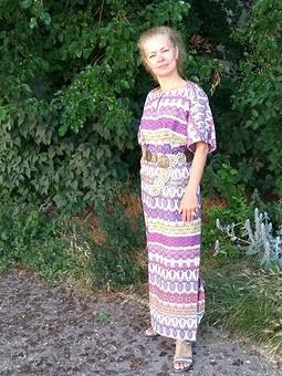 Работа с названием Египетское платье