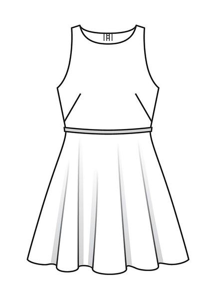 Как сшить мини-платье самериканской проймой