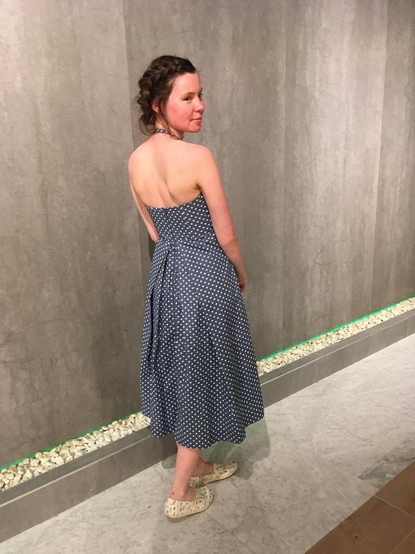 Платье вгоршек