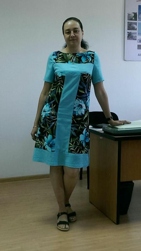 Комбинированное платье от eve100