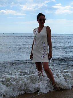 Работа с названием Платье для моря