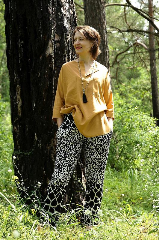 Блуза oversize ипижамные брюки