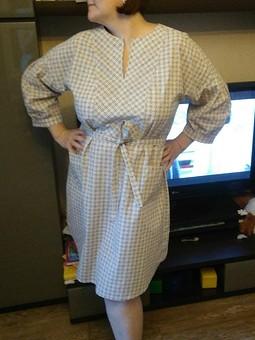 Работа с названием Платье для + рубашечного кроя