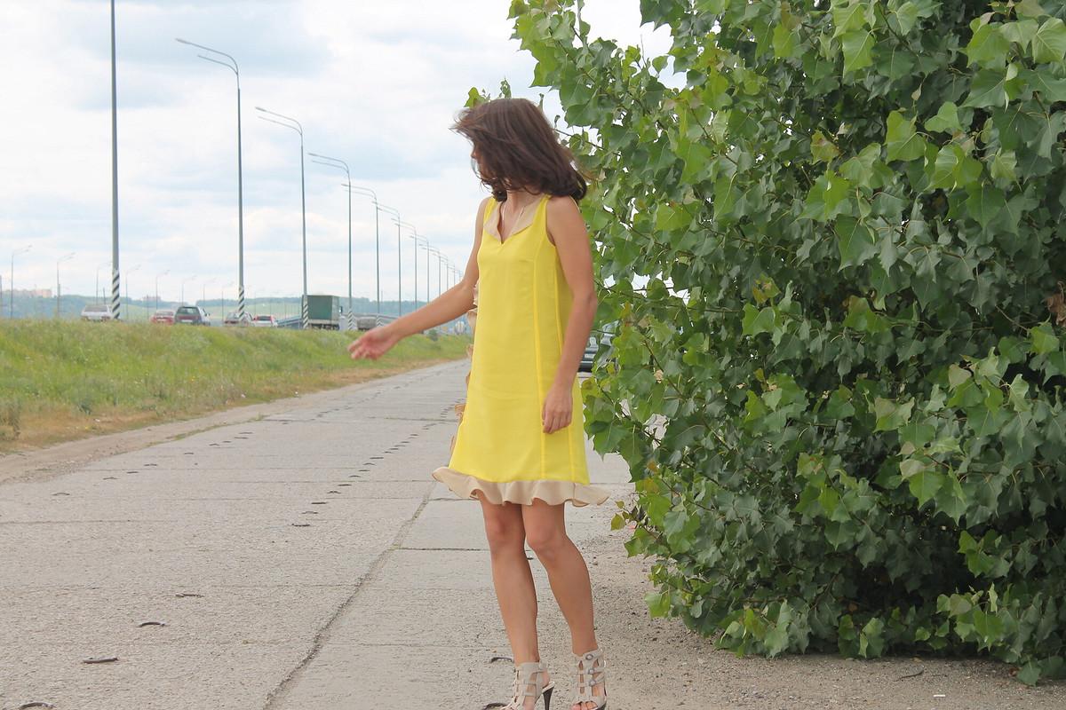 Желтое платье насвадьбу! от Amari