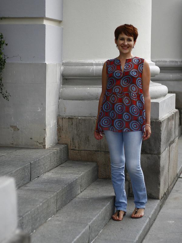 Марьяна, сюбилеем! Шифоновая блузка, модель 118 изBurda 6/2017