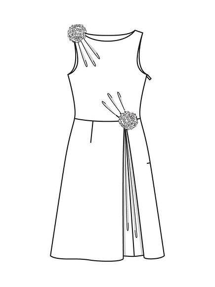 Как сшить коктейльное платье вдухе 60-х