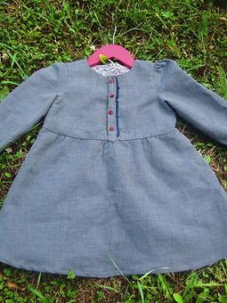 Работа с названием Осеннее платье для малышки