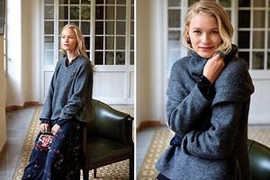 Как сшить «вязаный» пуловер со съёмным воротником