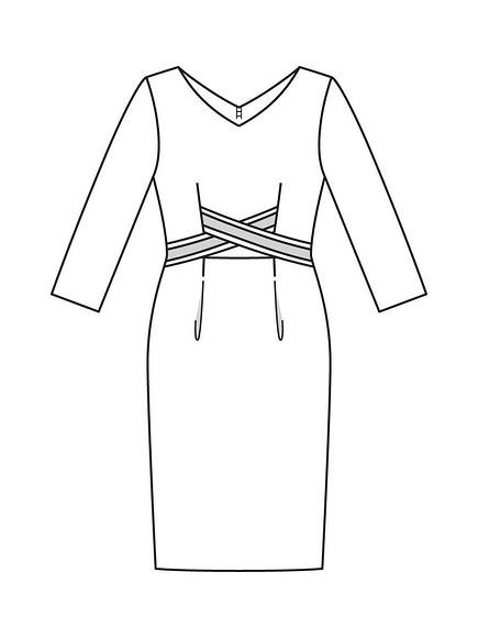 Как сшить платье-футляр соригинальными планками