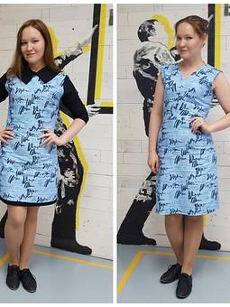 Работа с названием Одна ткань - два платья :)