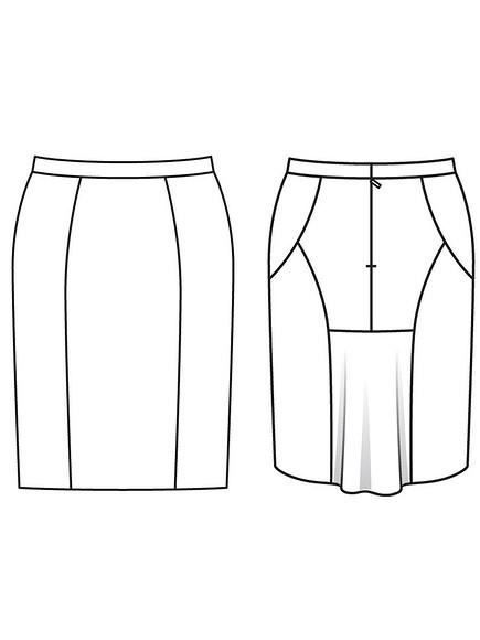Как сшить юбку сдрапирующейся деталью «годе»