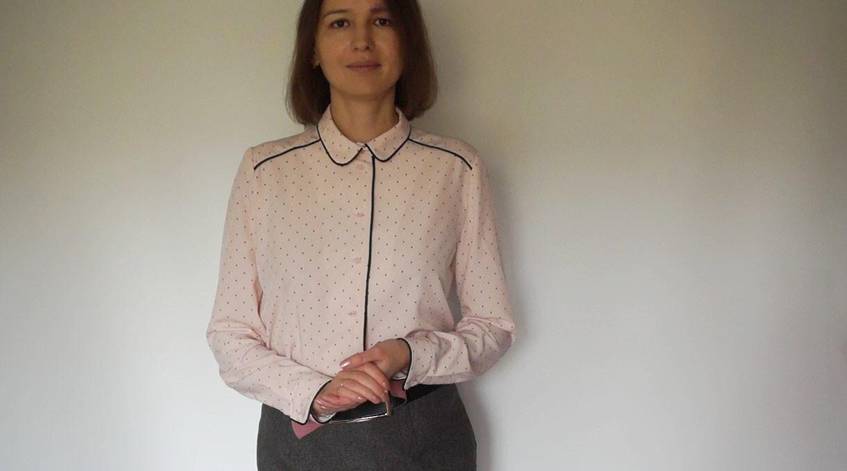 Блузка сконтрастным кантом от Larisa07