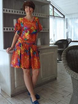 Работа с названием Трикотажное платье на лето