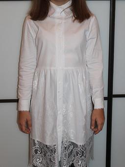 Работа с названием Платье-рубашка для девочки